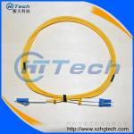 Veste externe optique unimodale de jaune de corde de correction de fibre de Zipcord LC-LC