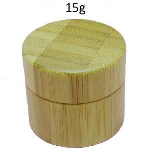 Quality 15gr 100% bamboo material cosmetic Jar for sale