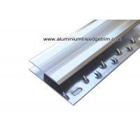 China Flat Type Aluminium Ceramic Tile Or Laminate Floor To Carpet Transition Strip  on sale