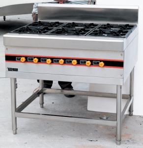 Stainless Steel Floor Burner Cooking Range BGRL-1280 For ...