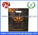 LDPE / CPE Raw Die Cut Handle Plastic Bags Black Color For Apparel