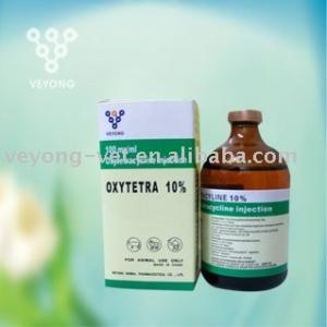 China 10% Oxytetracycline injection for antibiotic drug for veterinary drugs horses on sale