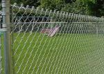 Safety Area Airport Security Fence Chain Link , Zoo Wire Mesh Different Colors