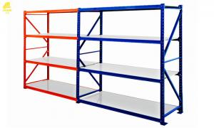 China 2000x600x2000mm Warehouse Shelving Units , 300kg / Layer Long Span Shelf on sale
