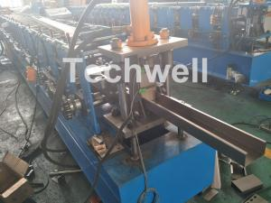 China GCr15 Steel Sheet C Section Cold Roll Former With Hydraulic Cutting & Punching , PLC Control on sale
