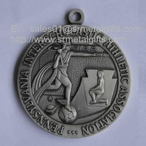 China Antique pewter metal Athletics medals for sale, engraved athletic event medals, on sale