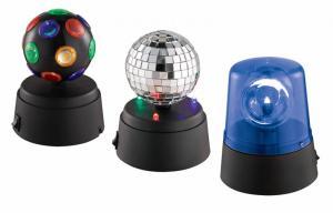 China Set Of 3 Mini LED Light Party Light One Mirror Disco Ball Beacon on sale