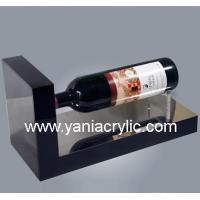 Single Elegant Contemporary Laser Engraving Red Acrylic Wine Holder Stand For Home