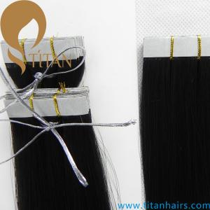 China alibaba express 5A grade Indian human hair straight tape in hair extensions on sale