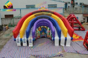 China Rainbow Inflatable Slide Park Kids Amusement Park For Advertising / Event on sale