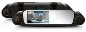 China Dual lens Car Rear View Mirror Camera Recorder DVR 4.3' TFT LCD HD 1280x720P Rear View Camera 720 x 480P with G-sensor on sale