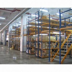 China Logistics Equipment Mezzanine/Warehouse Racking, Metal Structure on sale