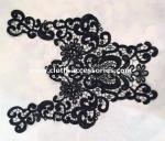 Polyester Water Soluble Lace Fabric / Big Butterfly Lace Collar Necklace