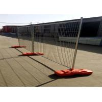 China Welded Silver Painted Temporary Fence Panels With Hot Dipped Galvanized Pipe on sale