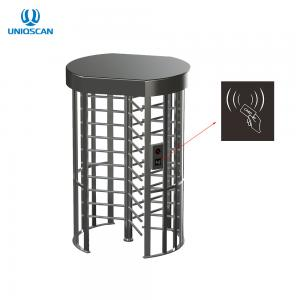 China Electric Stainless Steel Access Control Turnstile Gate Full Height With IC ID Card Reader on sale