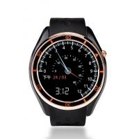 Leather Band Smart Wrist Watches , Gps Tracker Watch With Alarm Remote Monitoring Function