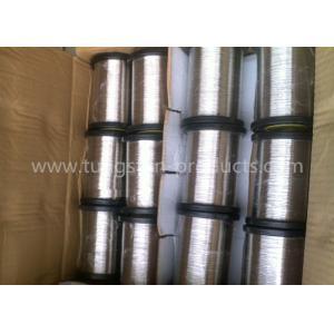 China Surface polie pure 1.0mm de fil de tungstène de la grande pureté 99,95 pour la métallisation de vide on sale