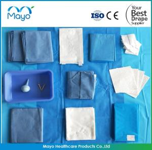 China Disposable sterile own factory medical product Surgical Delivery Drape Pack kit on sale