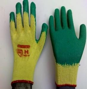 China 10G latex coated gloves on sale
