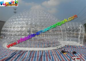 China Superior Safe Inflatable Transparent Tent Clear 6.6m Inflatable Bubble Tent on sale