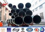China Electrical Power Poles 10 KV - 220 KV Single Circuit GR50 Metal Utility Poles wholesale