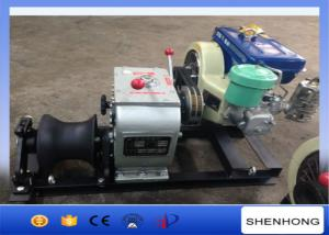 China 3 Ton Tower Erection Tools Cable Diesel Winch 4HP Single Capstan For Cable Pulling on sale