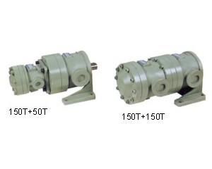 China Fixed displacement hydraulic double vane pumps 150+50T, 150+150T on sale