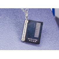 China Retro Stainless Steel Tibetan Buddhist Necklace , Heart Sutra Buddhist Symbol Pendant on sale