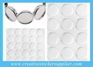 China 20mm Clear Epoxy Sticker For Charm Bracelet on sale
