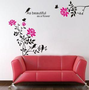 China New Wall Stickers/ DIY Removable Wall Sticker Wall Home Decor Art As Beautiful as a Flower  Decal Mural Paper on sale