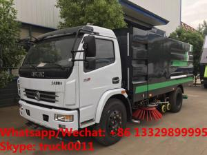 China 2019s HOT SALE! new best price Dongfeng 120hp diesel road washing sweeper truck street washing and sweeping vehicle on sale