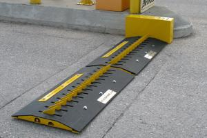 China Security Road Block Barrier , Rising Road Blocker Gang Control Interface on sale
