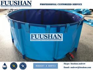 China Fuushan PVC Tarpaulin Collapsible Large Aquaculture Fish Farming Tanks Ponds on sale