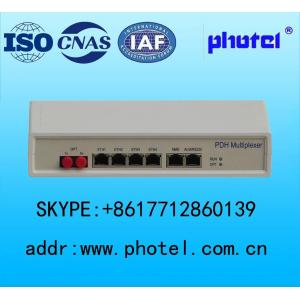 China Desktop PDH converter Fiber point to point  network 4E1/8E1+4ETH+2NMS ports on sale