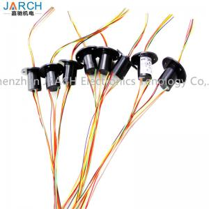 Quality Gold Contact 6 circuits of Miniature Slip Ring for simplifying electrical for sale