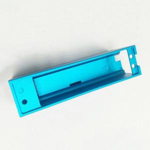 China OEM Aluminum 6061 T6 Machined Metal Parts CNC Milling Enclosure With Blue Anodized on sale