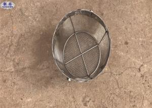 China Round Stainless Steel Wire Mesh Baskets , 304 Stainless Steel Mesh Filter Baskets on sale