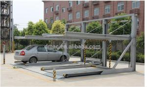 China 2 level double deck Vertical lift parking system portable car garage on sale