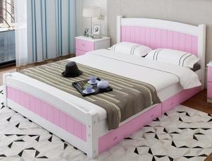 China Cama gigante moderna del pino de Apperance, solas camas del marco de madera con los cajones on sale
