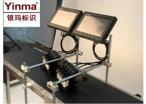 China Batch Number Printing Machine / Inkjet Date Code Printer With Replaceable Ink Boxes on sale