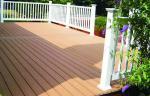 Anti-UV Waterproof WPC Decking Flooring , Environmental WPC Decking Lumber