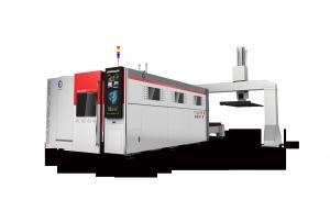 China High precision 4kw fully enclosed fiber laser cutter with automatic feeding system on sale