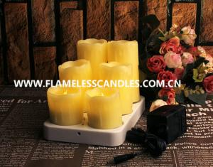 China Dripping Wax Wireless Rechargeable Flameless LED Candles on sale