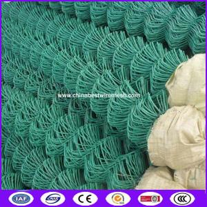 China PVC/PE Coated 9gauge wire decorative chain link fence with Height 1200mm on sale