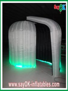 China Durable Rounded Inflatable Blow Up Photobooth 3 x 2.3 x 2m With Black Inside on sale