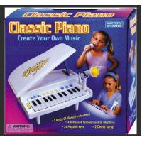 Classic Small Plastic Toy Piano Battery Operated With Microphone Demo Songs