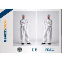 Breathable Disposable Protective Coveralls Lightweight Coverall With Hood White
