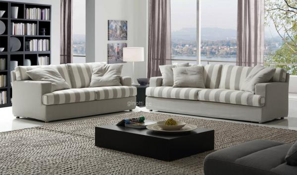Living Room Couches Modern Design 2 Seater 3 Fabric Sofa Images