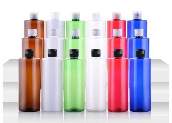 Flip Cap Decorative Shampoo Containers 500ml Uv Coating For