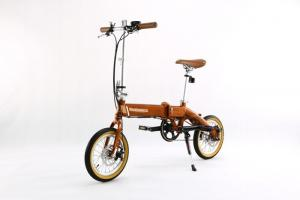 China 36V 8A Small Lithium Bicycle , Foldable Electric Bikes Allowed On Bus / Metro / Train on sale
